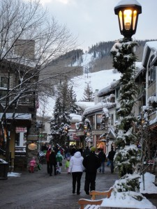 An evening stroll in Vail Village.